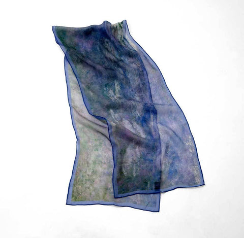 Monet's Water Lilies (Agapanthus) Silk Scarf