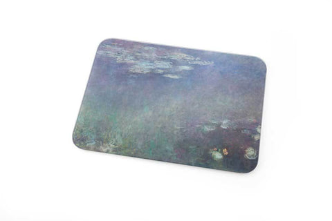 Water Lilies Glass Cutting Board