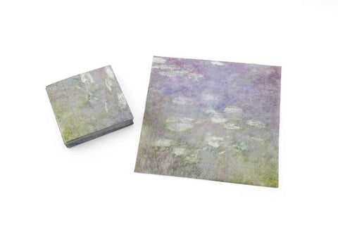 Water Lilies Cocktail Napkins Pack of 20