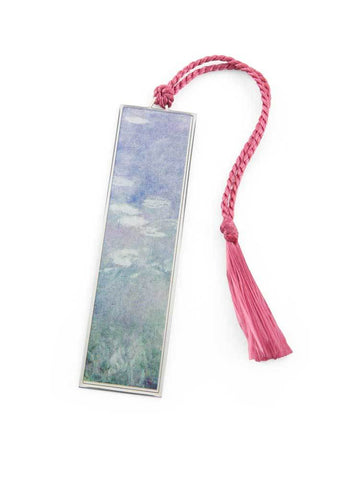 Water Lilies Metal Bookmark