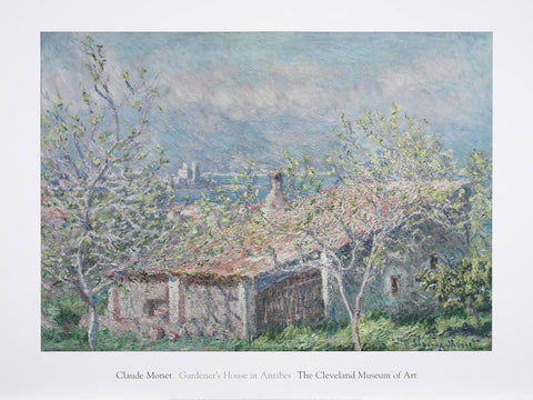 Gardener's House at Antibes Poster