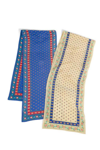 Mughal Patterned Silk Scarf