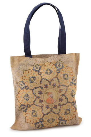 Mughal Patterned Cotton Canvas Tote