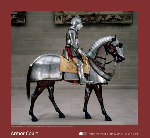 Armor for Man & Horse with Vols-Colanna Coat of Arms Poster