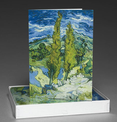 The Poplars at Saint-Rémy Boxed Notecards