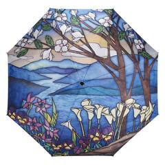 Stained Glass Landscape Umbrella