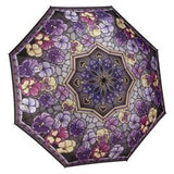 Reverse Closed Umbrellas | Stained Glass Pansies