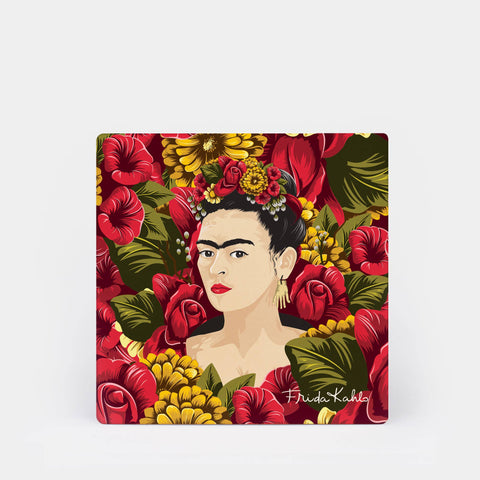 Frida Kahlo™ Rose Portrait Coaster