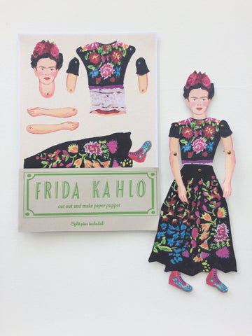 Frida Cut Out and Make Puppet