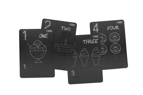 Chalkboard Number Flash Cards