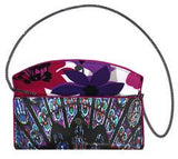 Stained Glass Clutch designed by Kent Stetson | open w/ cross-body chain