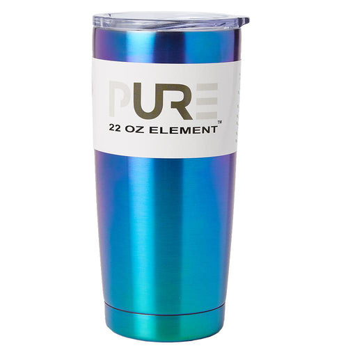 PURE Drinkware 22 oz Tumbler - Blue Metallic
