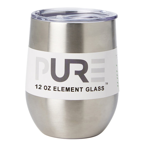 PURE Drinkware 12 oz Stemless Wine Glass - Stainless Steel