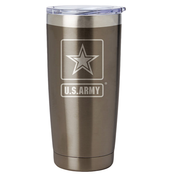 PURE Drinkware 20 oz Tumbler - Army (Gunmetal) - PURE Drinkware