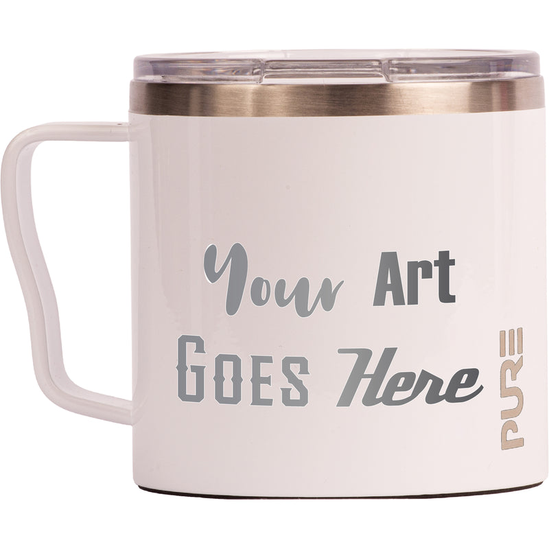 16 oz Coffee Mug - White - Custom Engraved