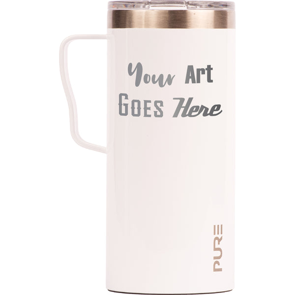 18 oz Coffee Mug - White - Custom Engraved