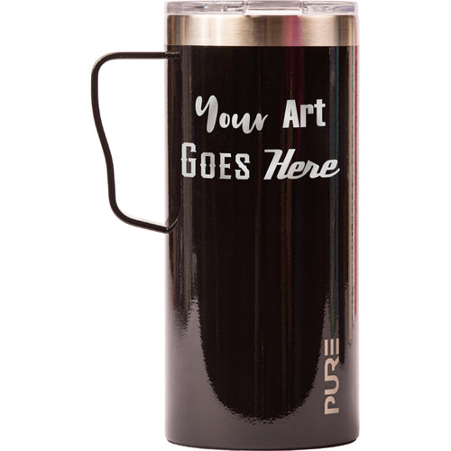 18 oz Coffee Mug - Black - Custom Engraved