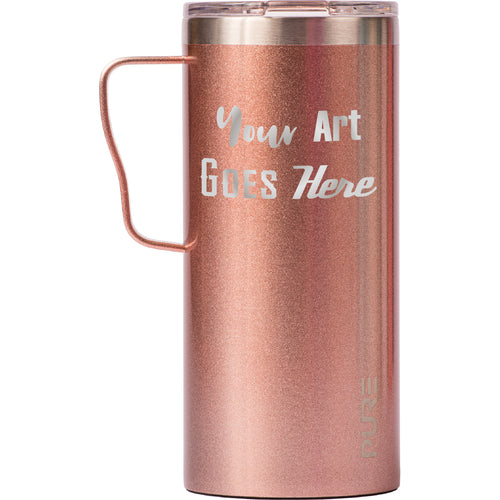 18 oz Coffee Mug - Rose Gold - Custom Engraved
