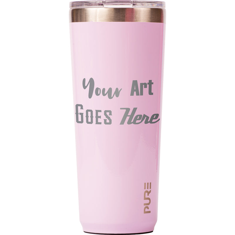 22 oz Tumbler - Lilac - Custom Engraved