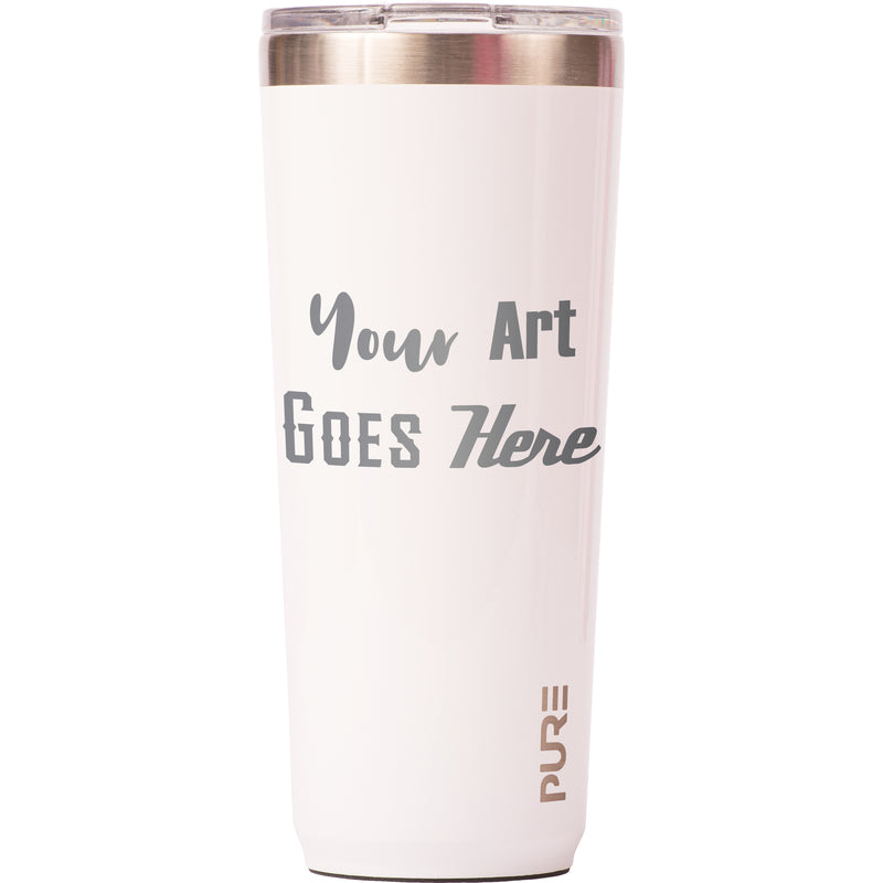 22 oz Tumbler - White - Custom Engraved