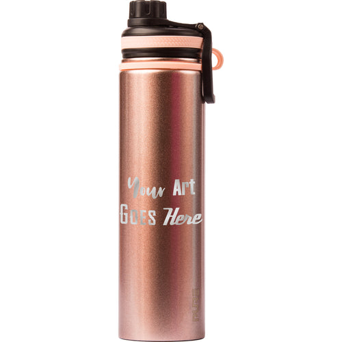 25 oz Endurance Bottle - Rose Gold - Custom Engraved