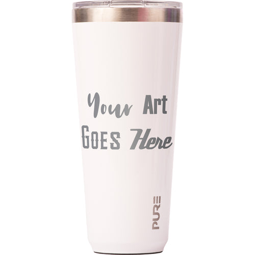 32 oz Tumbler - White - Custom Engraved