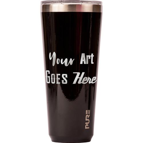32 oz Tumbler - Black - Custom Engraved