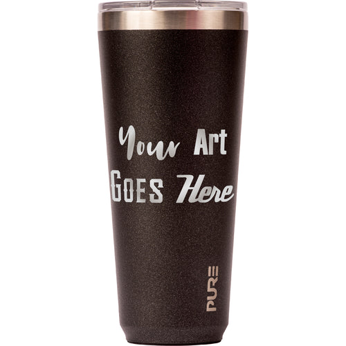 32 oz Tumbler - Gunmetal Flake - Custom Engraved