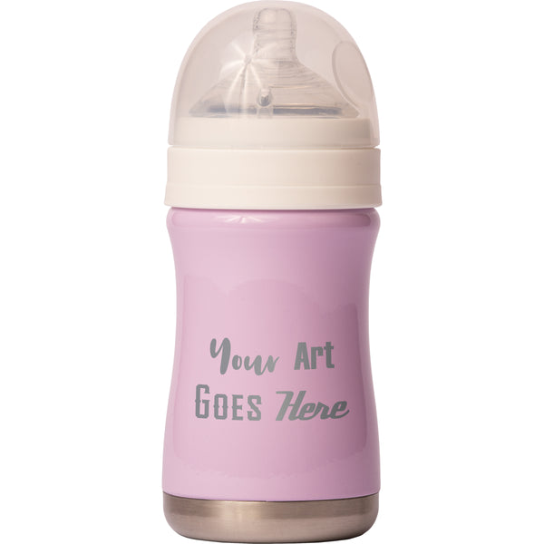 8 oz Baby Bottle - Lilac - Custom Engraved
