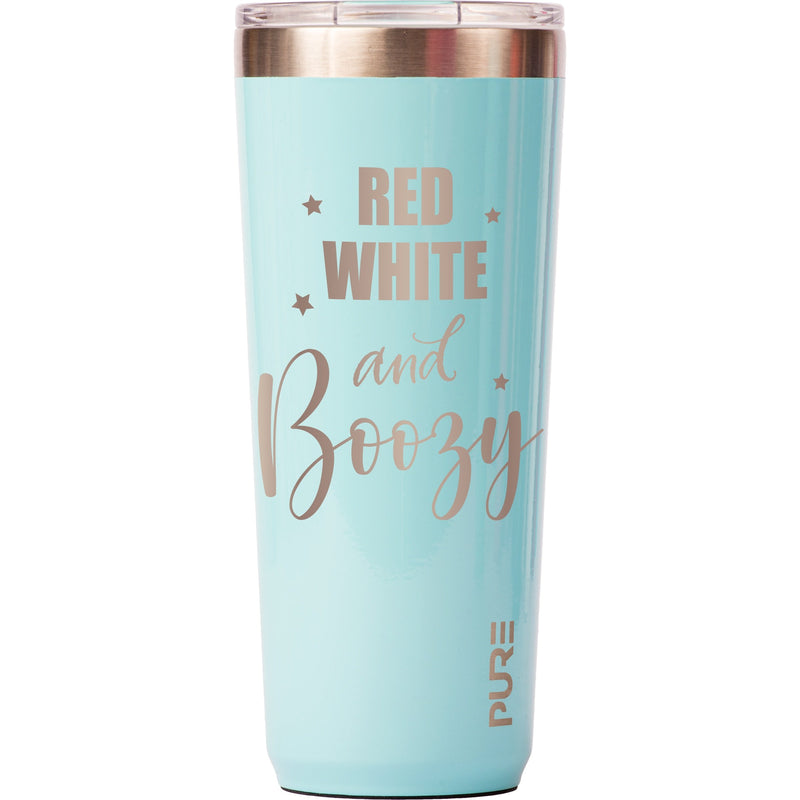22 oz Tumbler - Red, White, and Booze