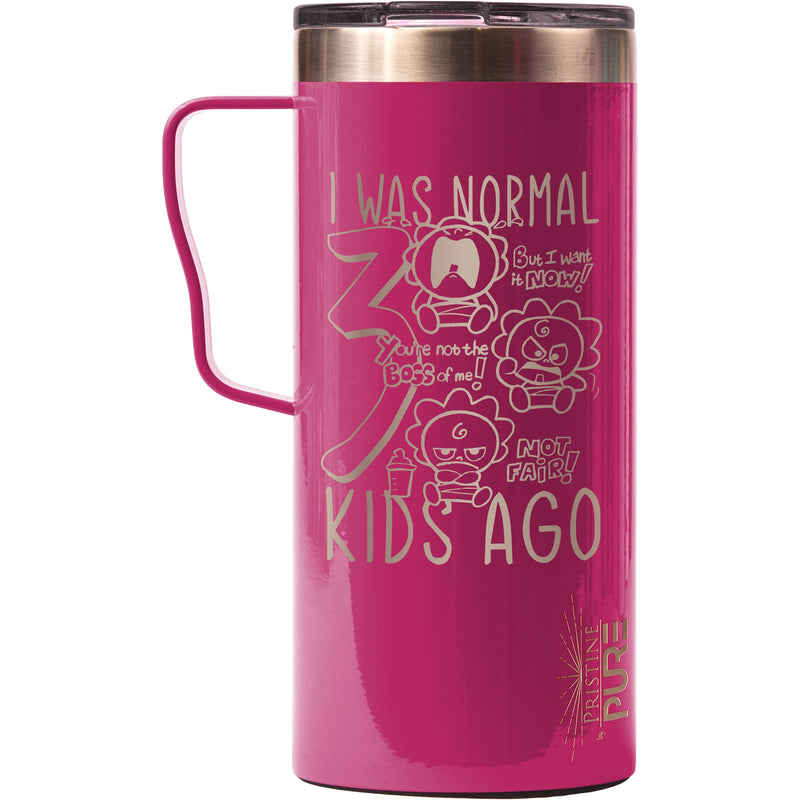 """It Fits"" 18oz Antimicrobial Thermal Mug - I Was Normal 3 Kids Ago"