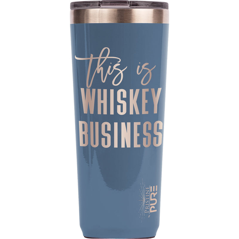 """Twistie"" 22oz Antimicrobial Tumbler - This is Whiskey Business"