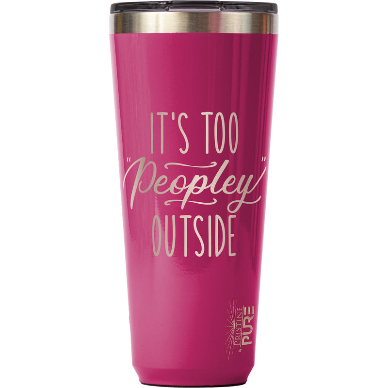 """Twistie"" 32oz Antimicrobial Tumbler - It's Too Peopley Outside"