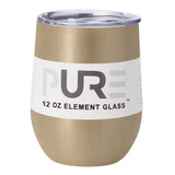 PURE Drinkware 12 oz Stemless Wine Glass - Gold