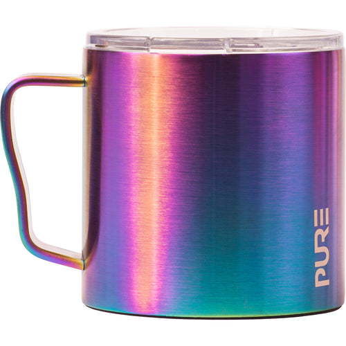 16 oz Coffee Mug - Blue Metallic