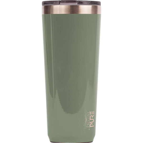 """Twistie"" 22oz Antimicrobial Tumbler - Olive"