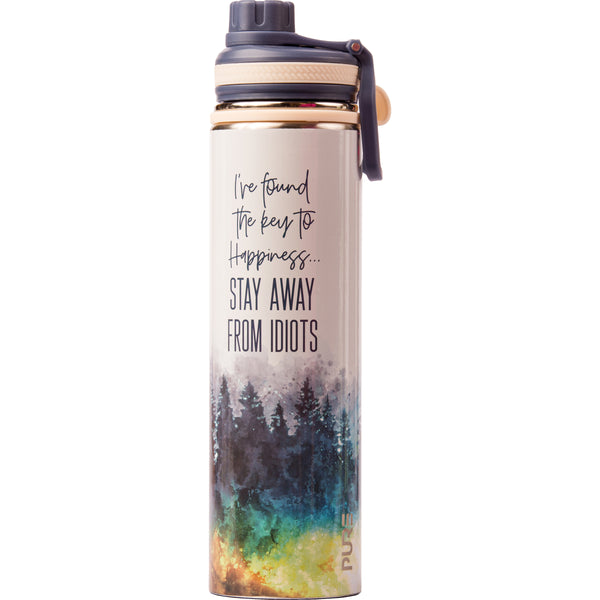 "25 oz Endurance Bottle - ""I've found the key to happiness; stay away from idiots"""