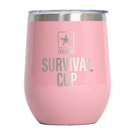 PURE Drinkware 12 oz Stemless Wine Glass - Pink