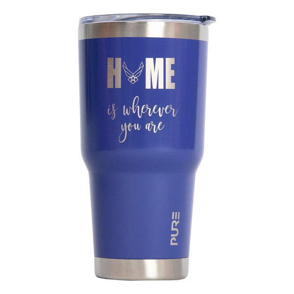 "PURE Drinkware 30 oz Tumbler - Air Force ""Home is wherever you are"" - PURE Drinkware"