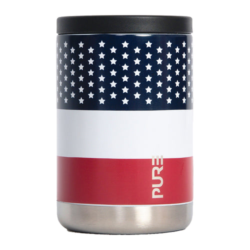 PURE Drinkware 12 oz Combo Cooler - US Flag - PURE Drinkware