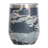 PURE Drinkware 10 oz Stemless Wine Glass - Air Force Camo - PURE Drinkware