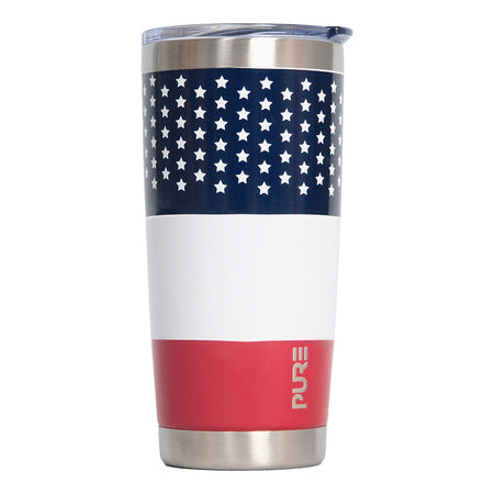 "PURE Drinkware 22 oz Tumbler - Air Force, ""Enjoy Life"" (White)"