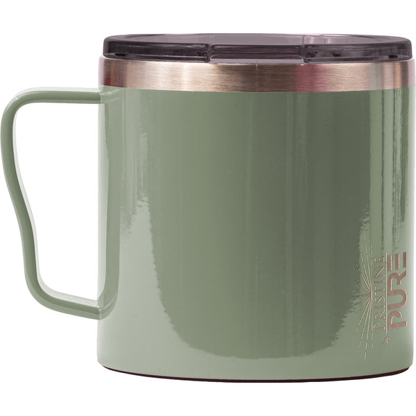"""Big Gertha"" 16oz Antimicrobial Coffee Mug - Olive"