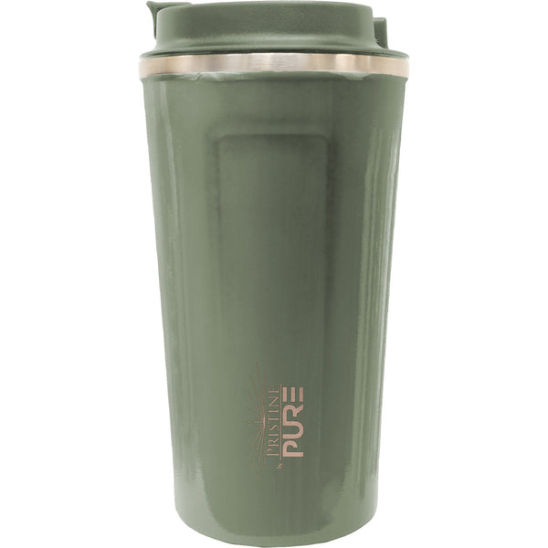 """Pro Latte"" 17oz Antimicrobial Thermal Mug - Olive"