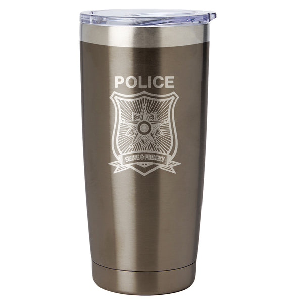 PURE Drinkware 20 oz Tumbler - Police Department (Police Grey) - PURE Drinkware