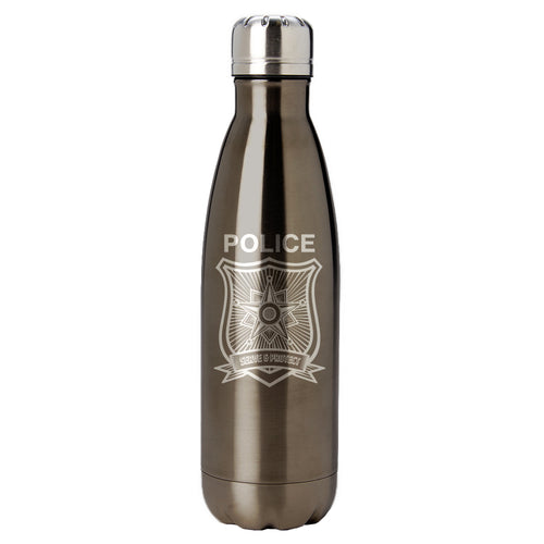PURE Drinkware 17 oz Bottle - Police Department (Police Grey) - PURE Drinkware
