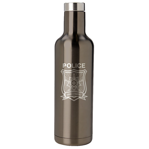 PURE Drinkware 25 oz Bottle - Police Department (Police Grey) - PURE Drinkware