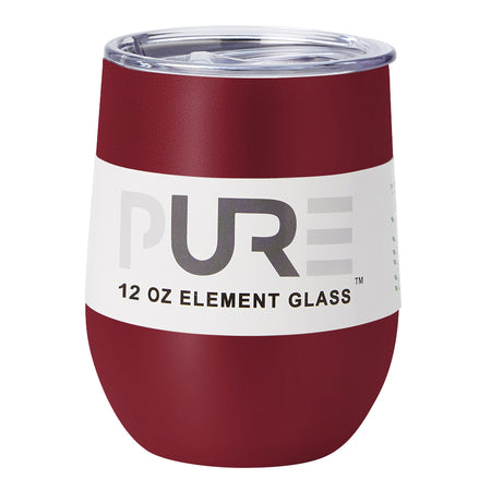 PURE Drinkware 12 oz Stemless Wine Glass - Red