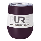 PURE Drinkware 12 oz Stemless Wine Glass - Aubergine
