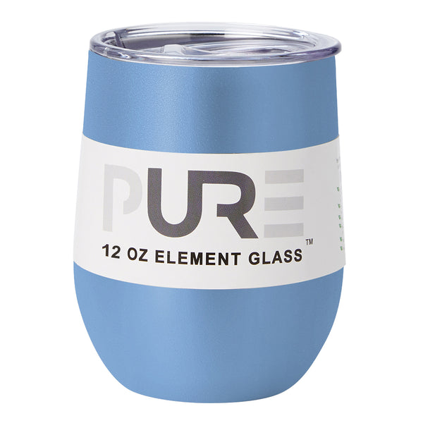 PURE Drinkware 12 oz Stemless Wine Glass - Powder Blue